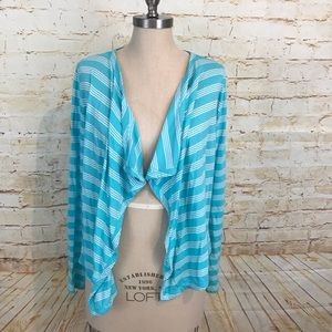 Tommy Bahama M open front cardigan striped euc